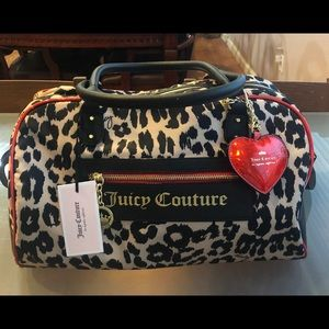 Juicy Couture Clashing Hearts Weekender Bag